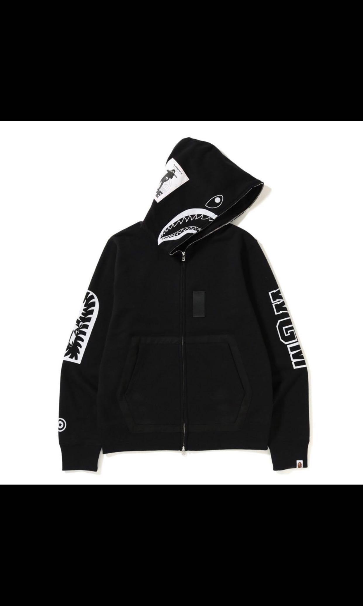 2b1068e72f0d Bape military shark full zip hoodie