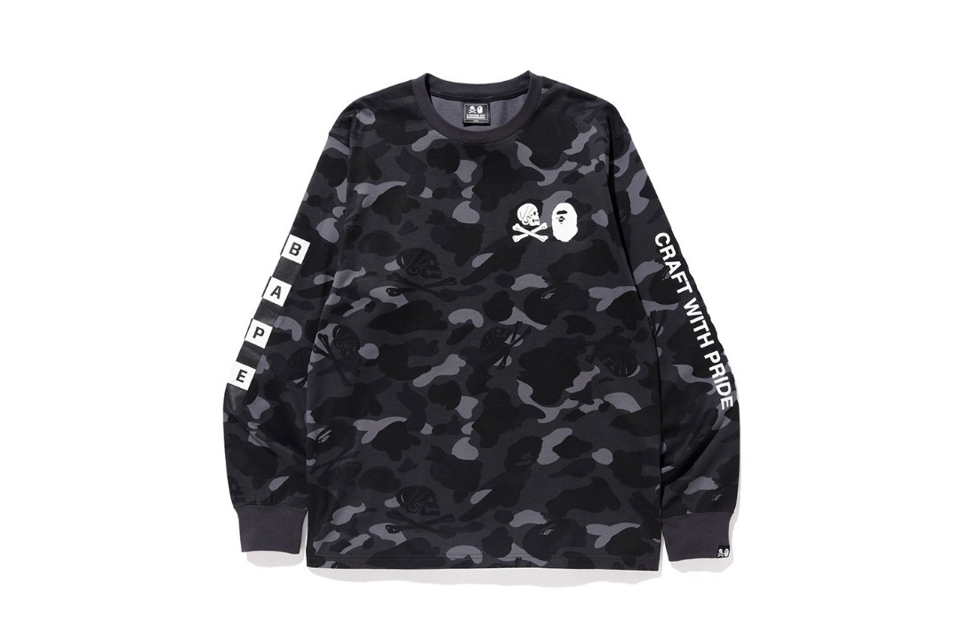 785552a9a718 Bape x neighbourhood camo tee