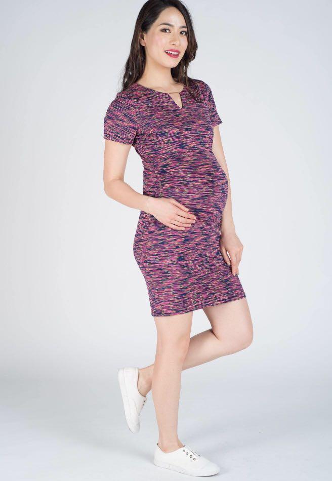 e232091d9b1 BNWT JUMPEATCRY maternity/ nursing dress - Issa Dark Rainbow XS ...