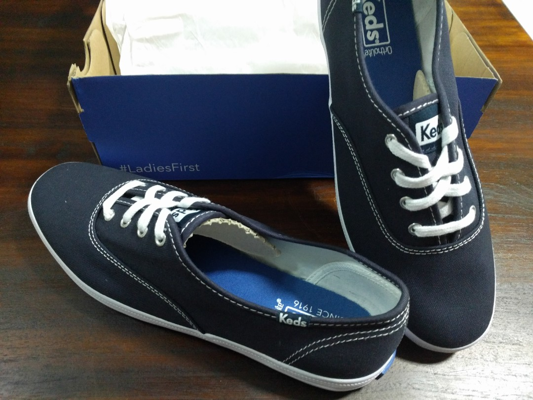 6b41216643349 BNWT Keds Champion Women Navy Canvass Shoes 100% Authentic US 8 ...