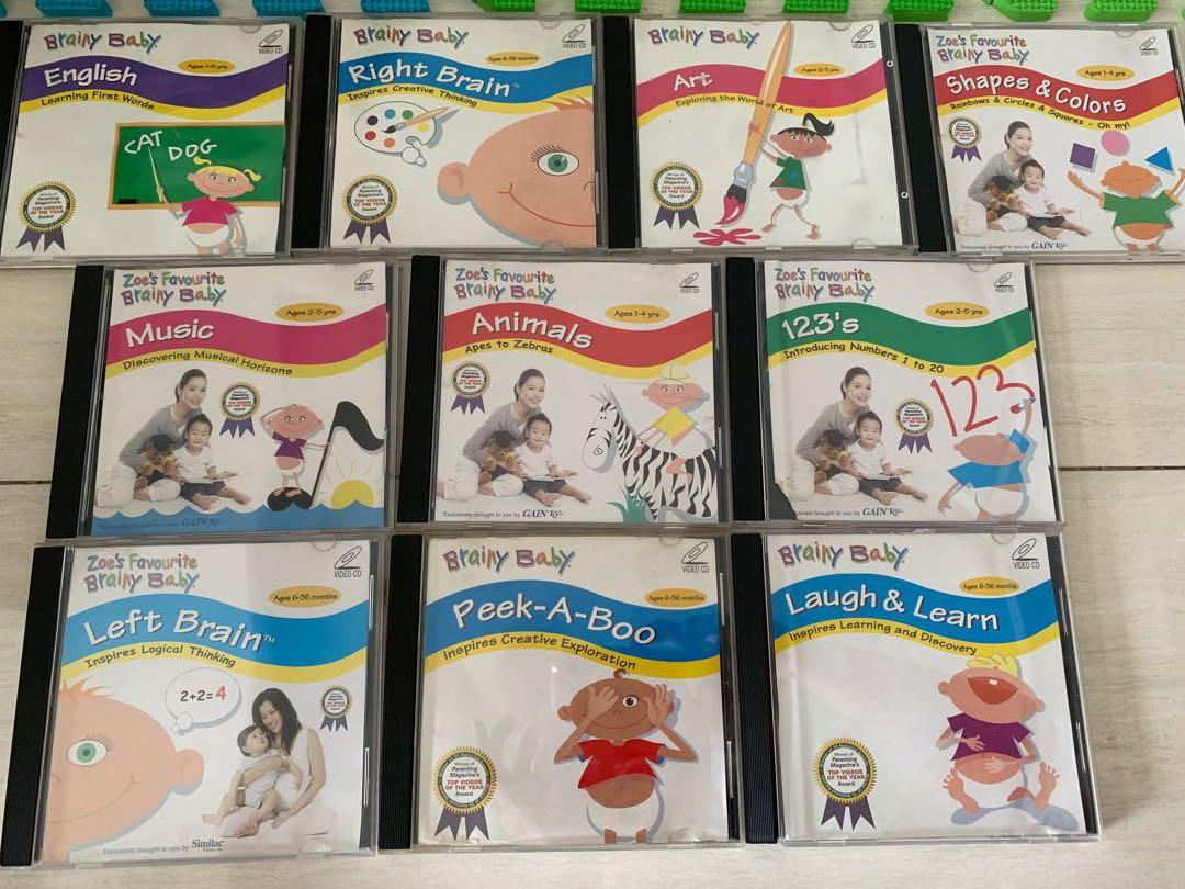Brainy baby VCDs, Babies & Kids, Toys & Walkers on Carousell