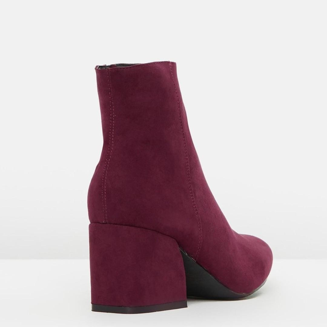 Brand new in box Therapy burgundy ankle boots size 41/10 Paid $80