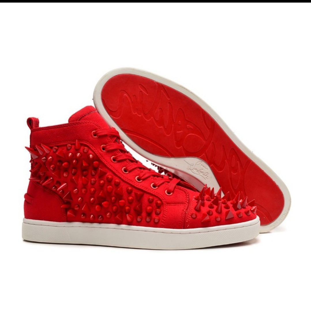 d4cd973b4077 Christian Louboutin Red Sneakers