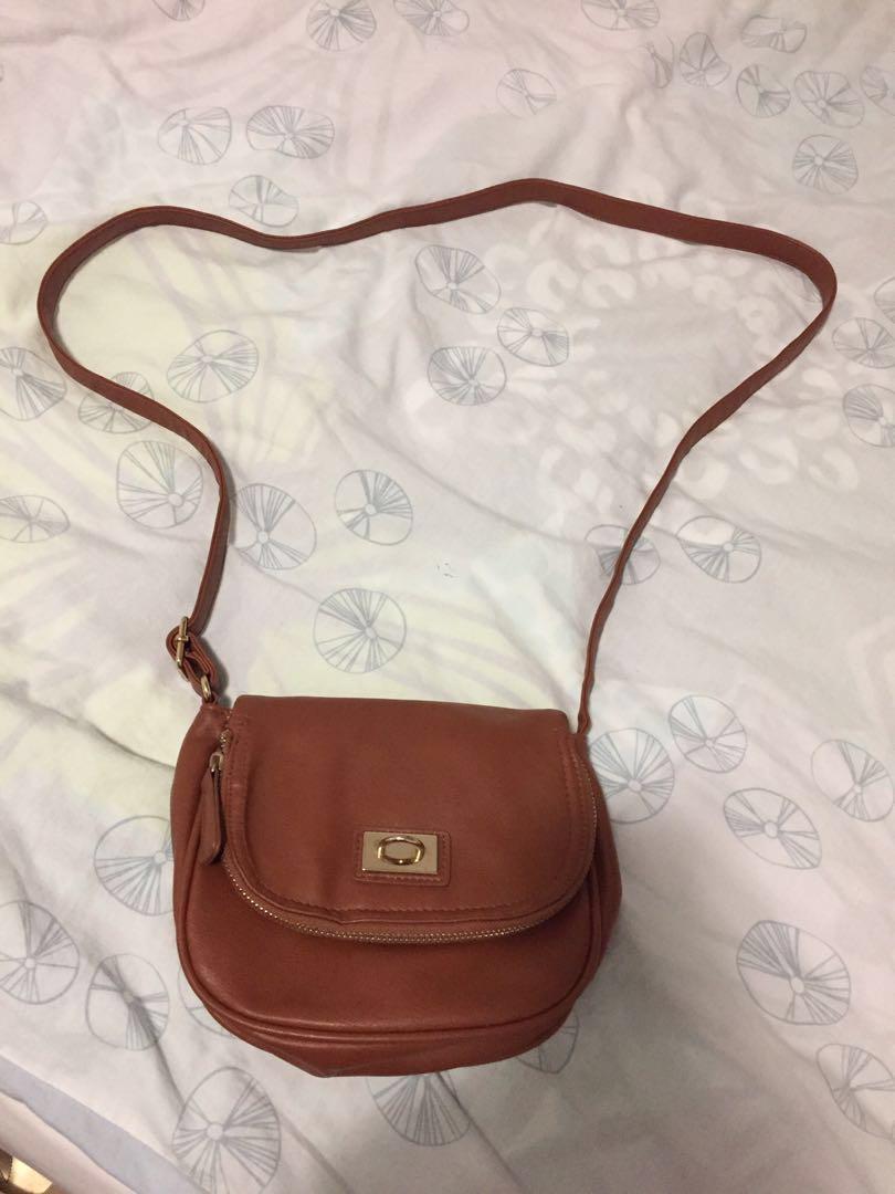 Cognac Side Bag