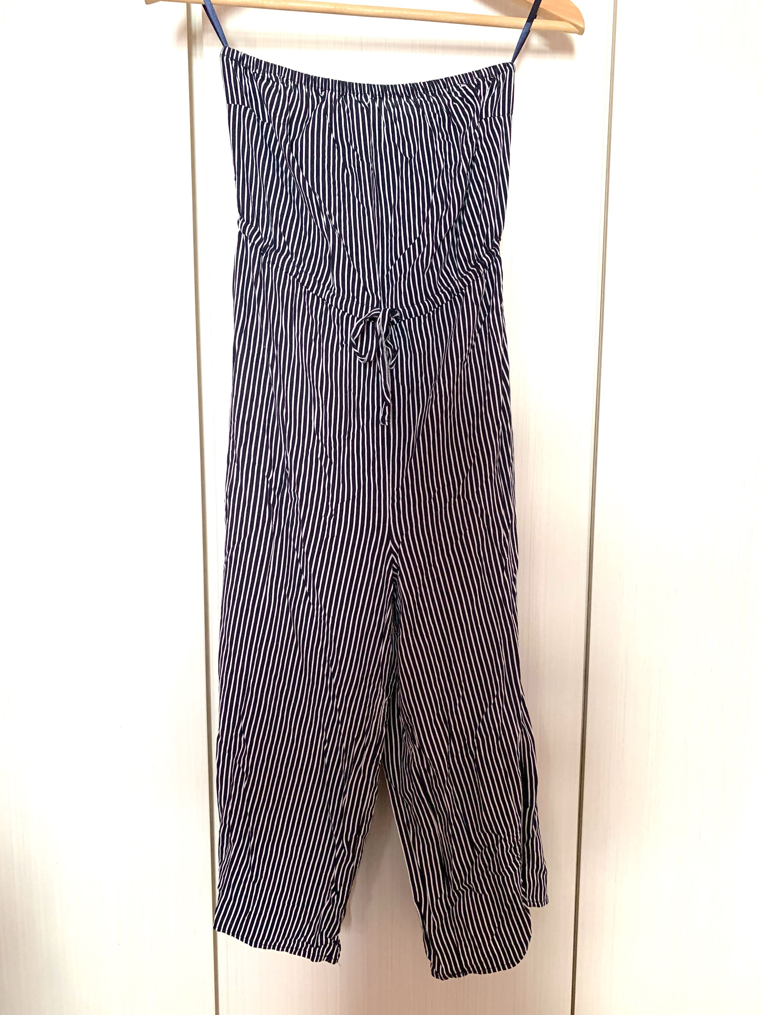 96be15449b63 Cotton On Tube Jumpsuit (Navy blue striped)