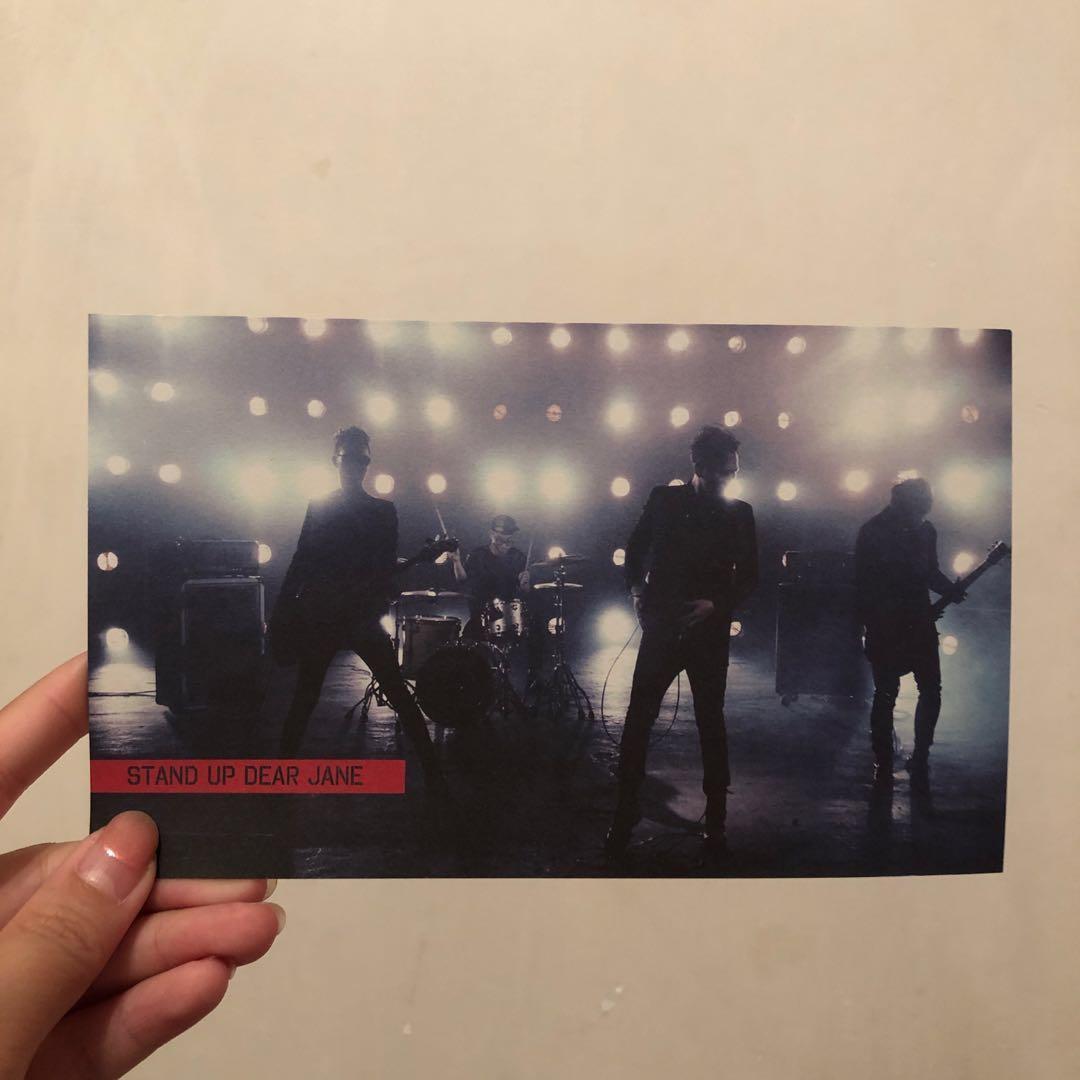 Dear Jane 樂隊 STAND UP 歌曲歌詞卡 紀念品 非賣品 Warner Music