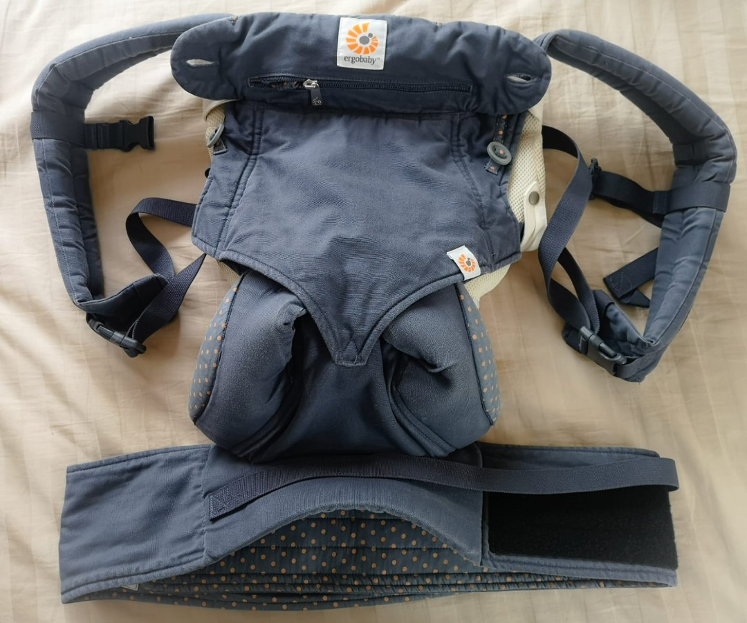 ab2355d7961 Ergobaby All position 360 dusty blue with infant insert