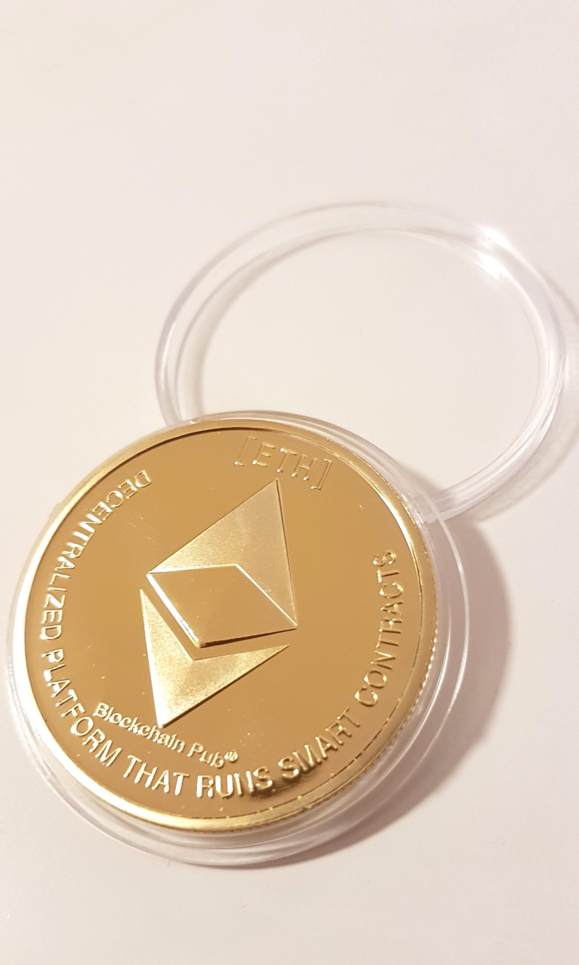 Ethereum Coin Collectable Physical Coin ETH / BTC / LTC