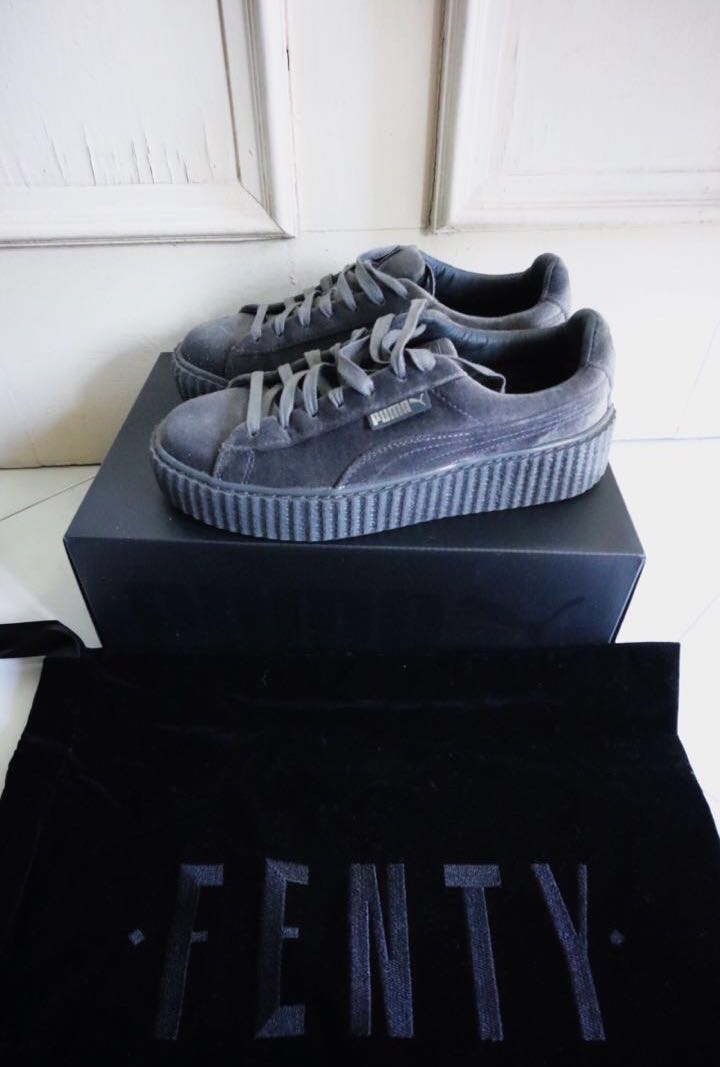 check out b3432 9569a Fenty X PUMA velvet Creepers Grey