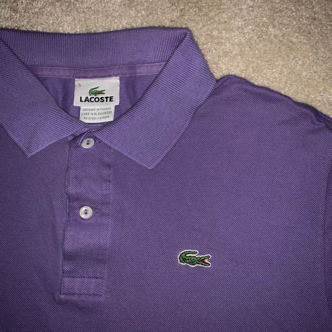 073649df LACOSTE AUTH POLO SHIRT light purple 😍😍😍, Men's Fashion, Clothes, Tops  on Carousell