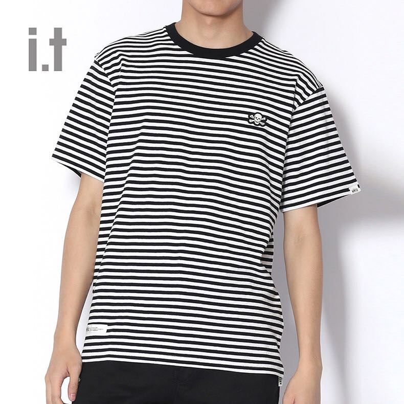 26b63380 NHIZ Striped Pocket Tee, Men's Fashion, Clothes, Tops on Carousell