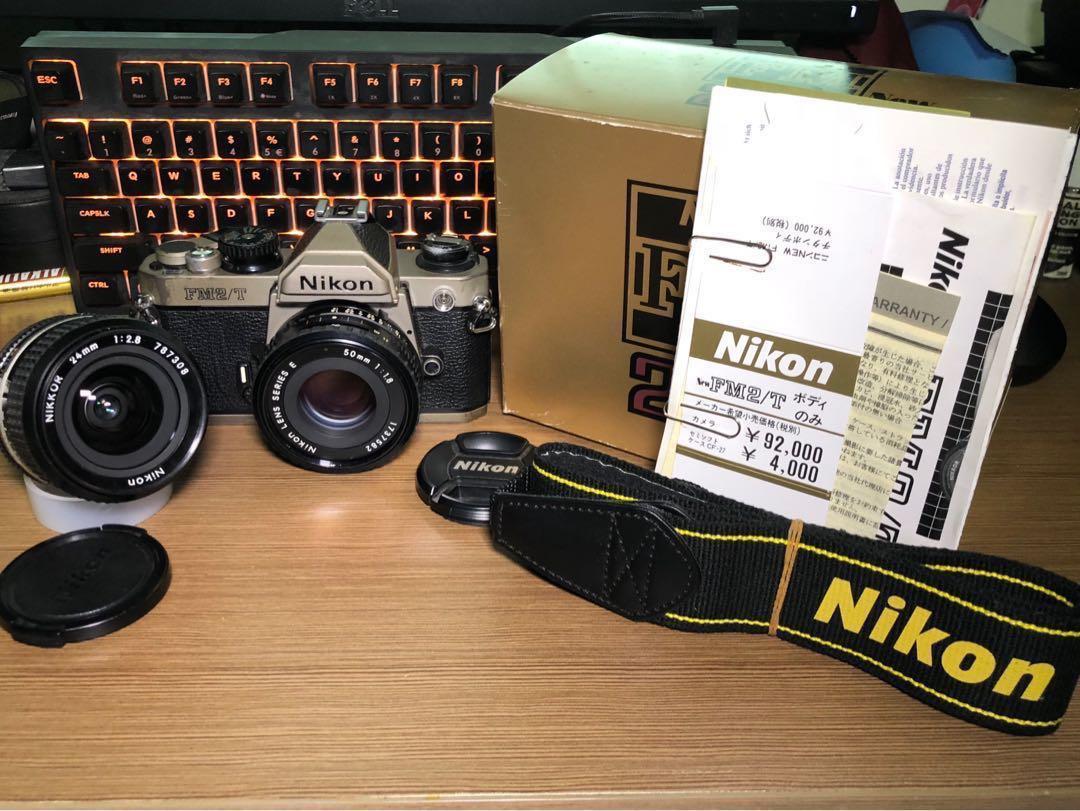 Nikon FM2 Titanium + 50mm F1 8E + 24mm F2 8 AIS