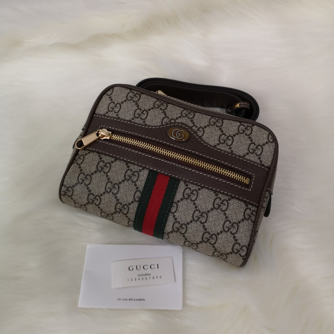 ecbe171faea ON HAND  Authentic Gucci GG Supreme Ophidia Canvas Women s Belt Bag ...
