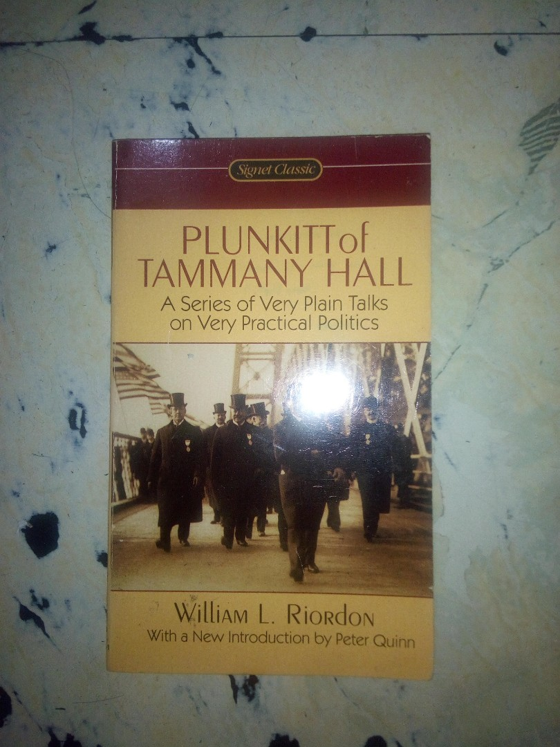 plunkitt of tammany hall book
