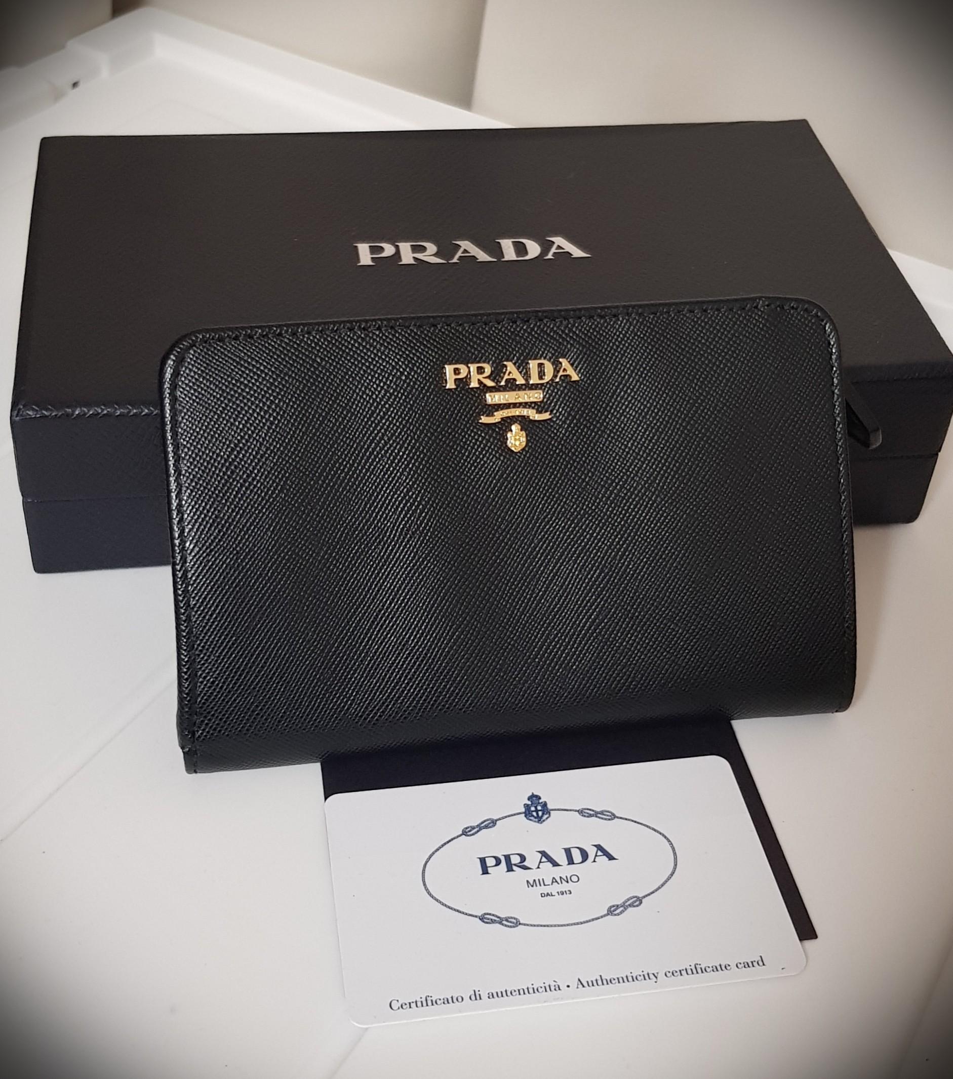 632208b4488e3c Prada Saffiano Wallet, Luxury, Bags & Wallets, Wallets on Carousell