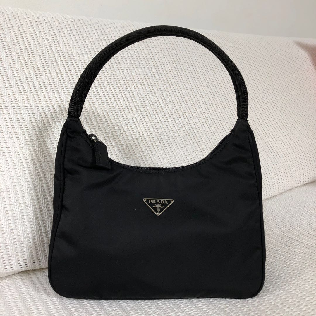 458219a30c44dd Prada Tessuto Mini Hobo Bag, Luxury, Bags & Wallets on Carousell