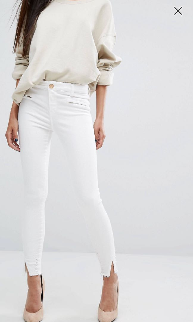 934e009f River Island Skinny Jeans (White), Women's Fashion, Clothes, Pants ...