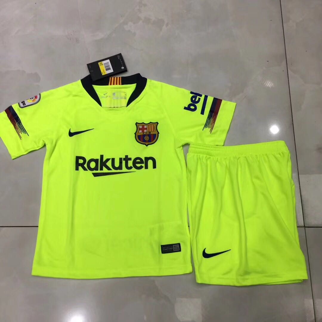 size 40 95d68 3f32d (S to XXXXL) Barcelona Away Jersey 2018/2019 Yellow (Messi, Coutinho,Suarez)
