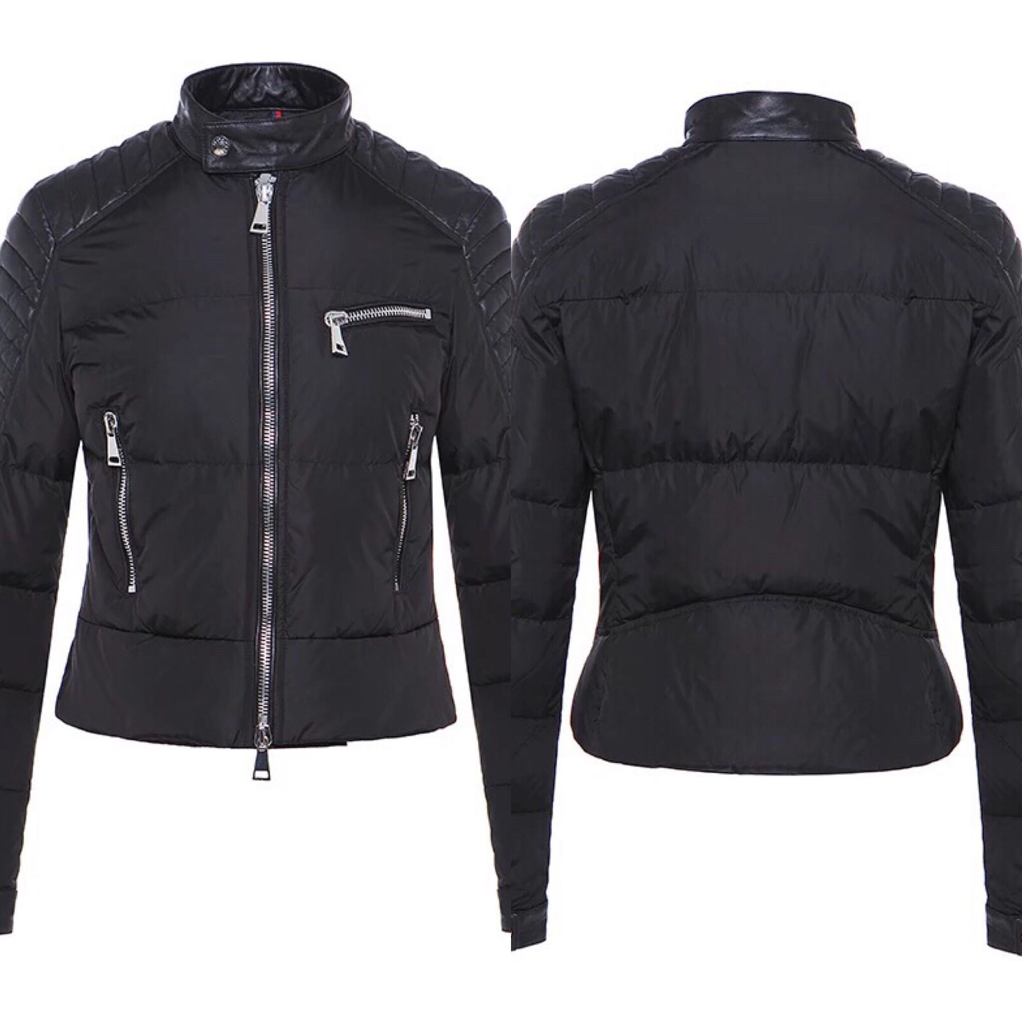 057f8b297 SALE) BNWT Authentic Moncler Kerkyra Ladies  Biker Lambskin Down ...