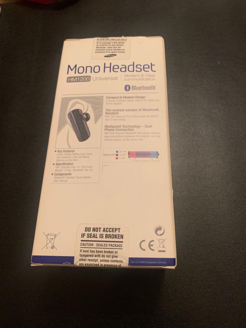 Samsung Mono Headset HM1200 Bluetooth universal