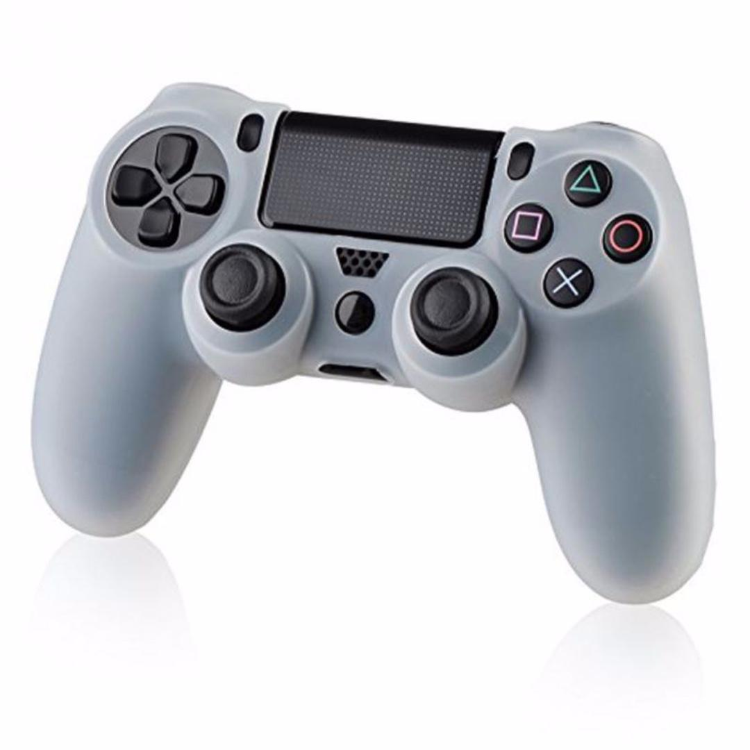 Silicone Cover for PS4 DualShock 4 DS4 Controller (White