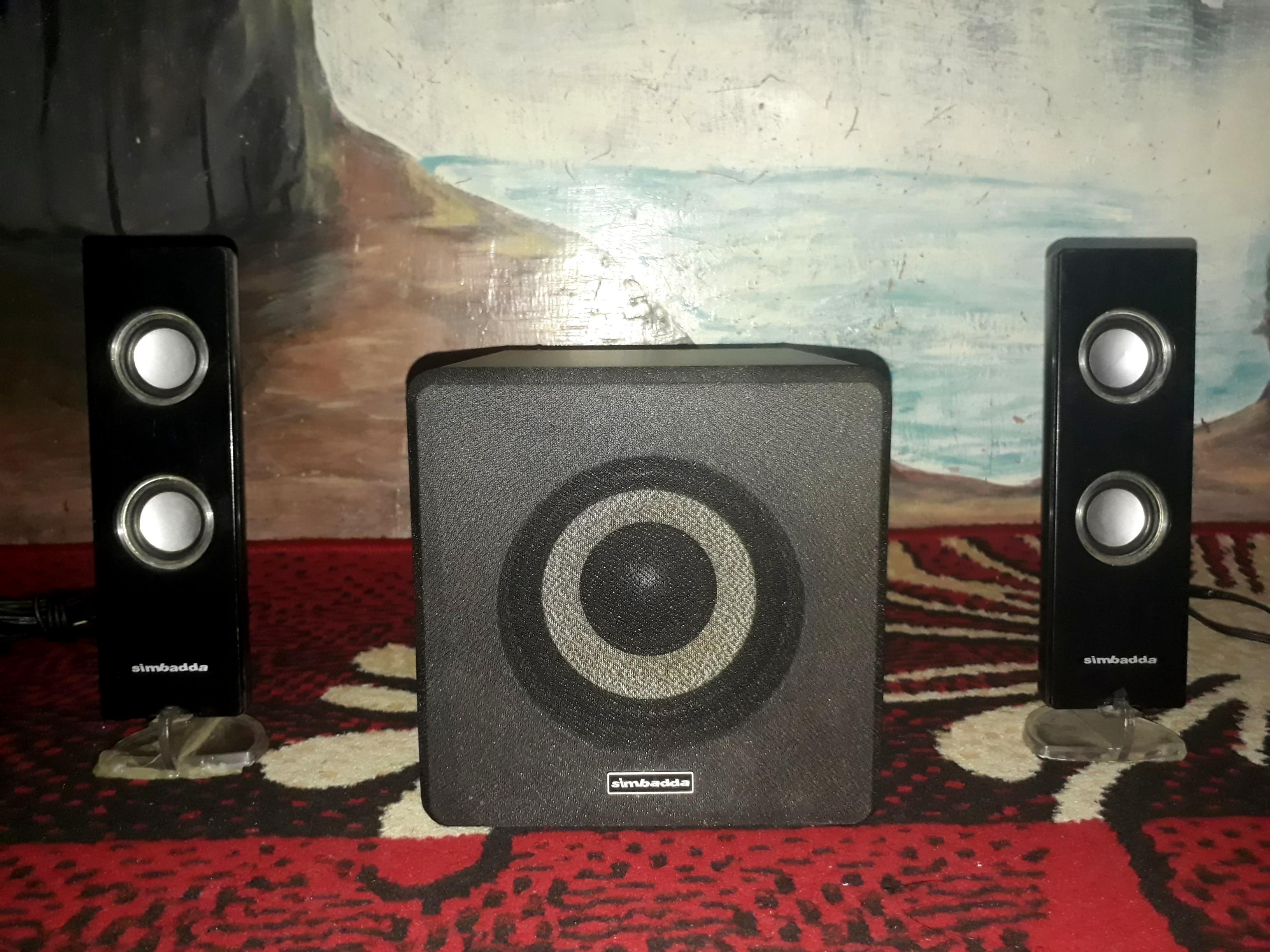 Speaker Subwoofer Simbadda CST 6400N 2.1 Suara Lembut Bassnya Nendang #Cicaheum