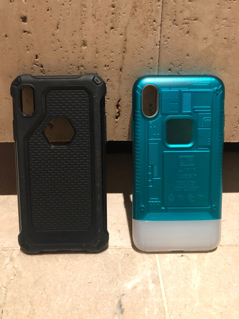 new product 8497f d7b6f Spigen Classic C1 and rugged armor iPhone X case