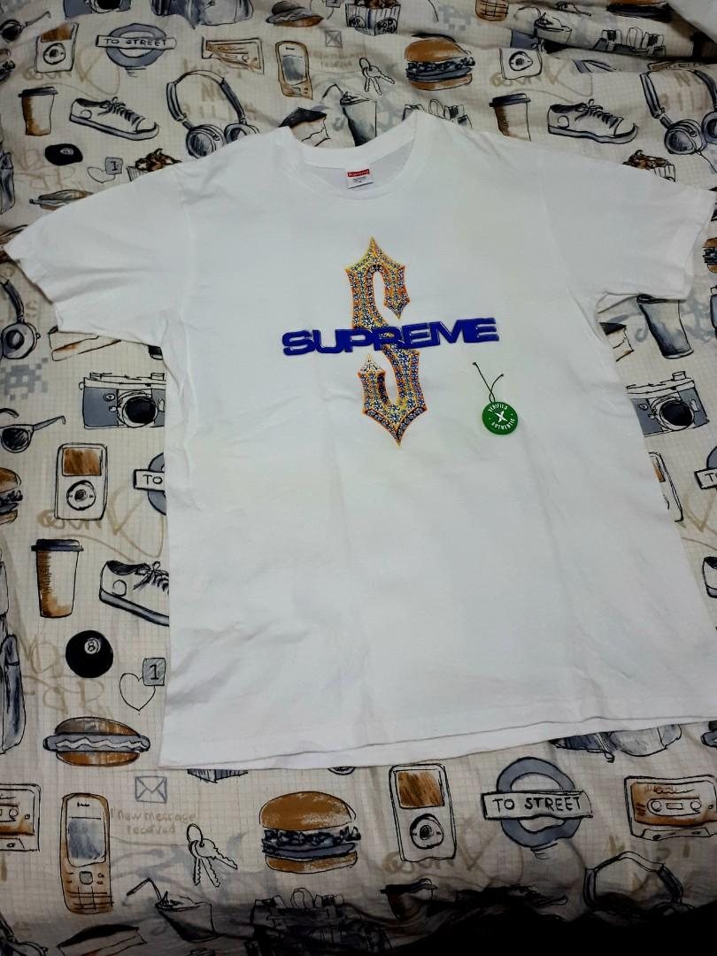 a76ef8d1ef27 Supreme Diamonds Tee White SS18 Size M Authentic on Carousell