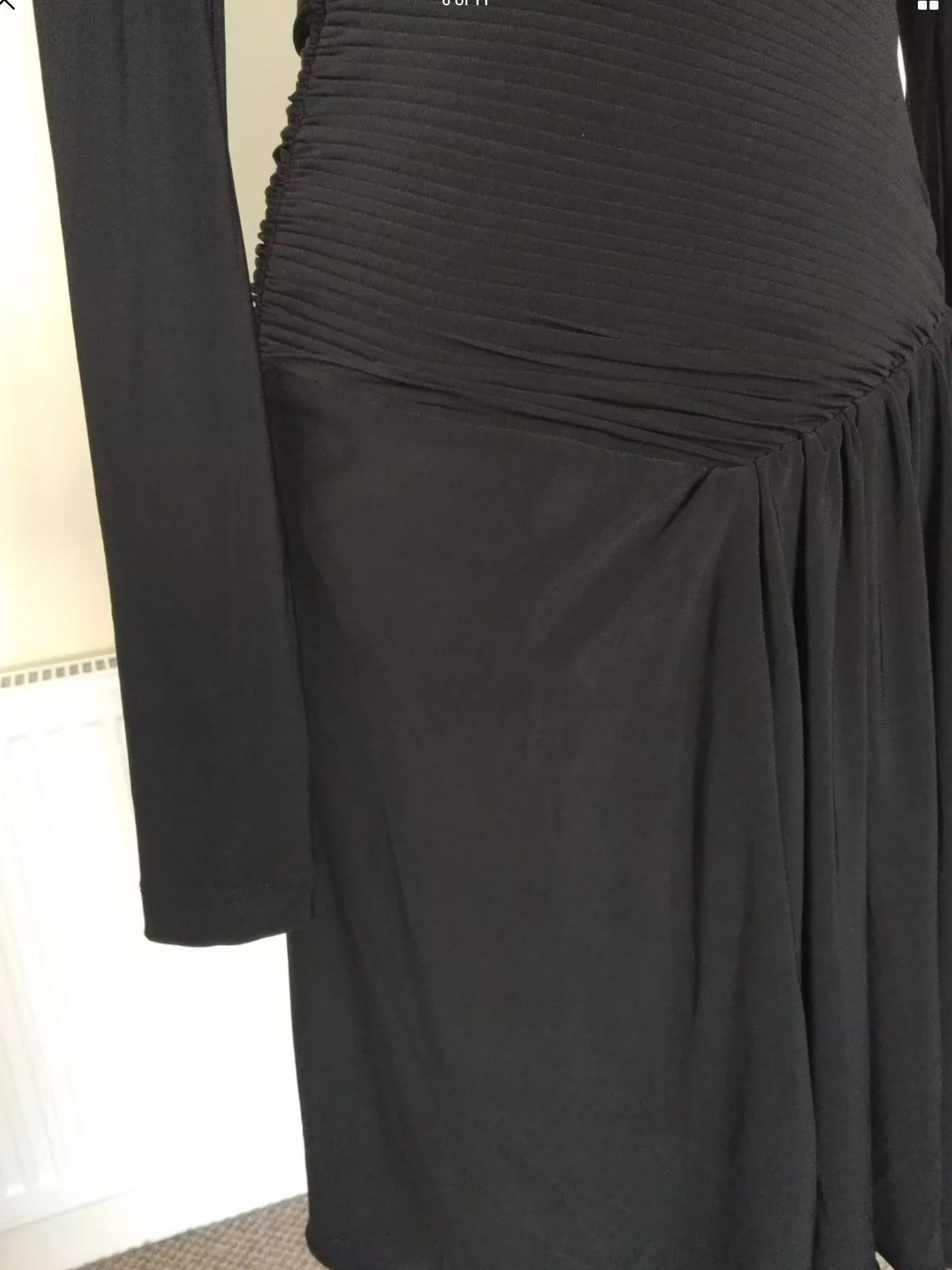 293a577494a Ted Baker Pleats Black Cocktail Dress