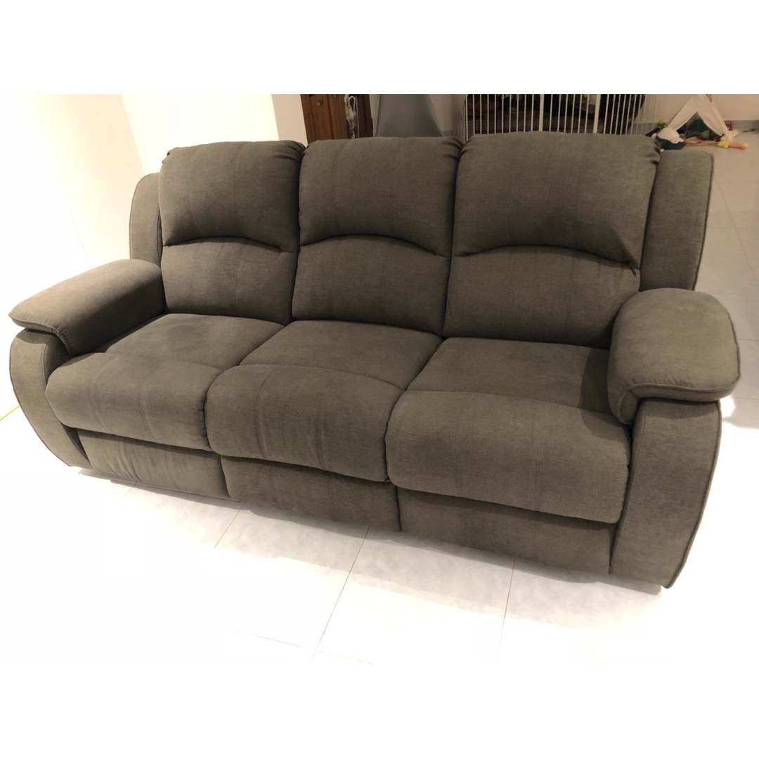 Urgent 3 Seater Sofa Recliner Few Months Old Grey Furniture
