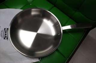 IKEA Fry Pan Stainless Steel 9 inch diameter