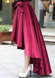 High Low Flare Asymmetrical Skirt #PRECNY60