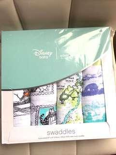💚超靚特別版Winnie the Pooh x aden+anais Swaddle/包被/被仔/餵奶巾/Disney 120x120cm💚最後1盒現貨