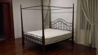 Super King Four Poster Bed with Mattress #CNYHome