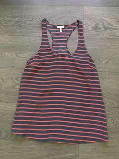 Joie 100% silk striped tank size small