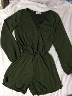 Frippery olive green romper