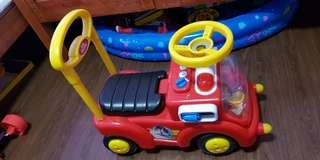 Kids ride fire engine toys baby