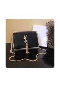 YSL Yves Saint Laurent Gold Chain Sling Bag