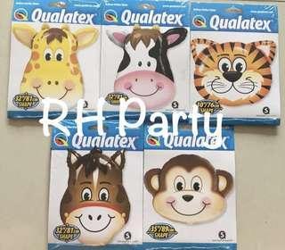 (16/1) Include helium Safari Animal theme foil balloon Jumbo size