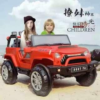 2 Seater Wrangler Jeep Rechargeable Ride On Car