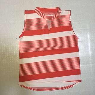 Sleeveless red stripes