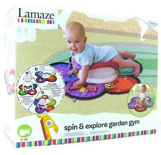Lamaze Spin and Explore Garden Playmat