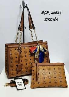 MCM Tote Bag 2 in 1 Brown