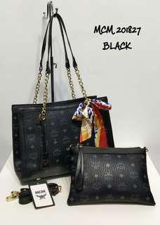 MCM Tote Bag 2 in 1 Black