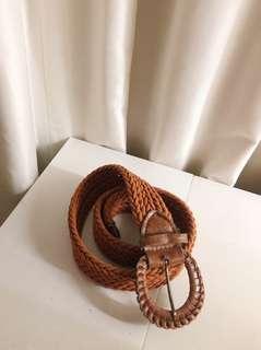 Tali Pinggang Kepang (Brown Braid Belt) (Good)