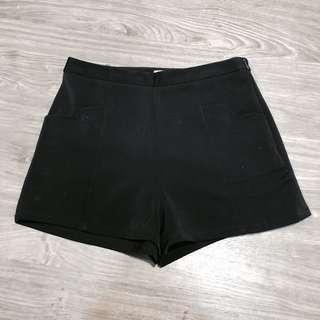Highwaisted Black Shorts