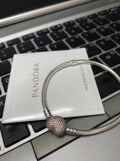 Pandora Bracelet with Heart Shaped Rose Gold Clasp #PreCny60