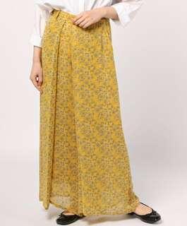💜半價 日本製 ZUCCa 碎花剪裁設計褲裙 beauty&youth beams 可參考