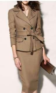 Looking for tuxedo button trench Bodycon dress