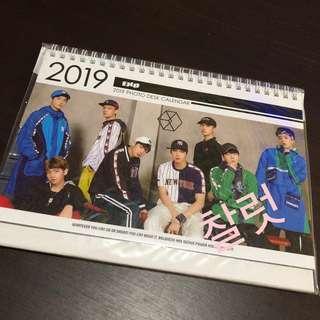 EXO 2019-2020 Photo Desk Calendar